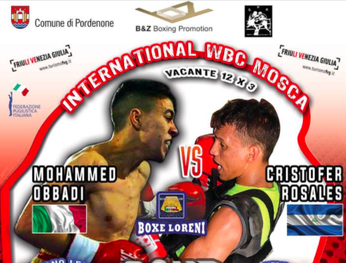 I Pesi Ufficiali della Grande Serata di Boxe di Pordenone: Clou Obbadi vs Rosales per Titolo Int. WBC Mosca